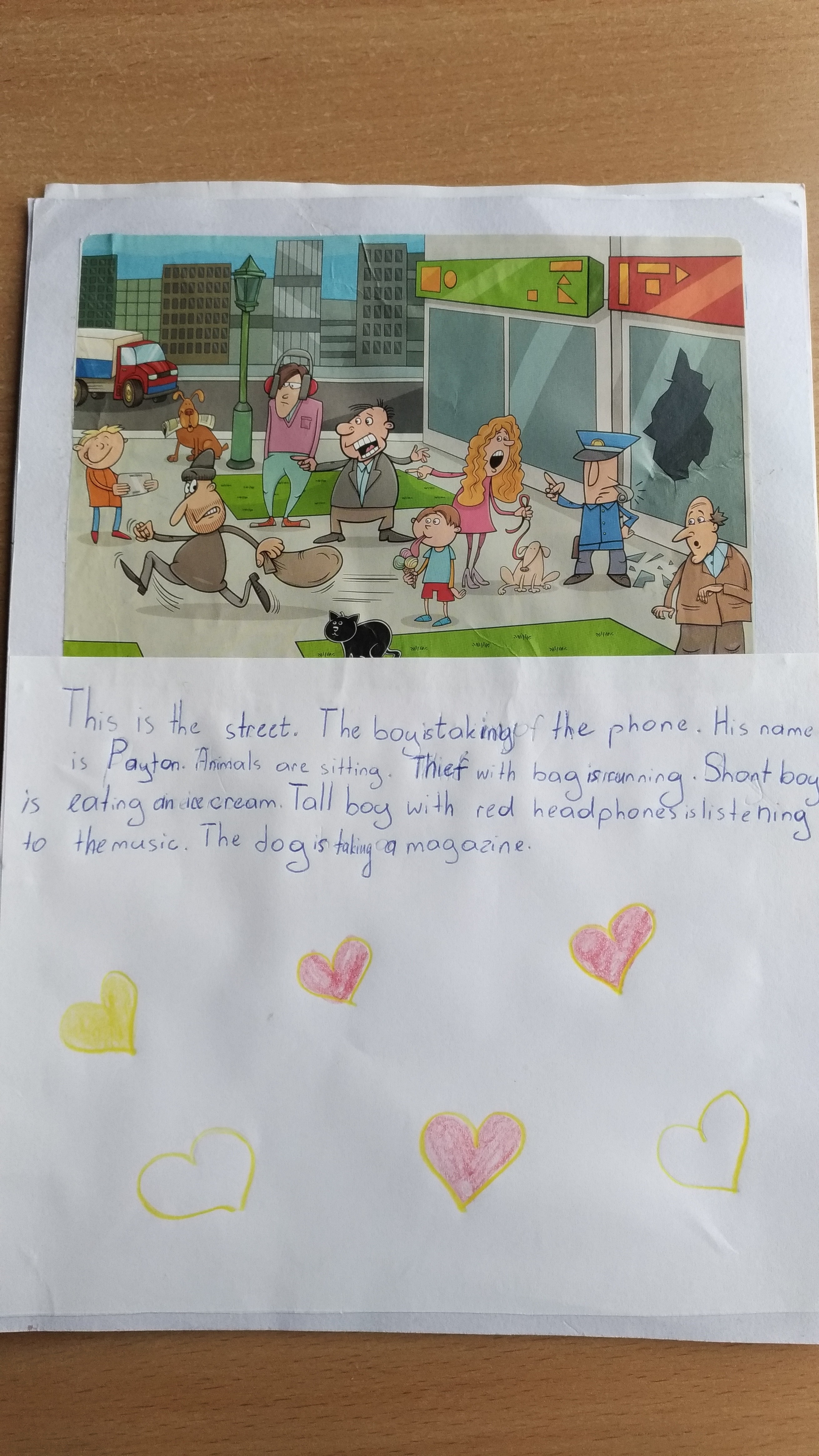 present-continuous-story-Level-A1-Grade-5-2