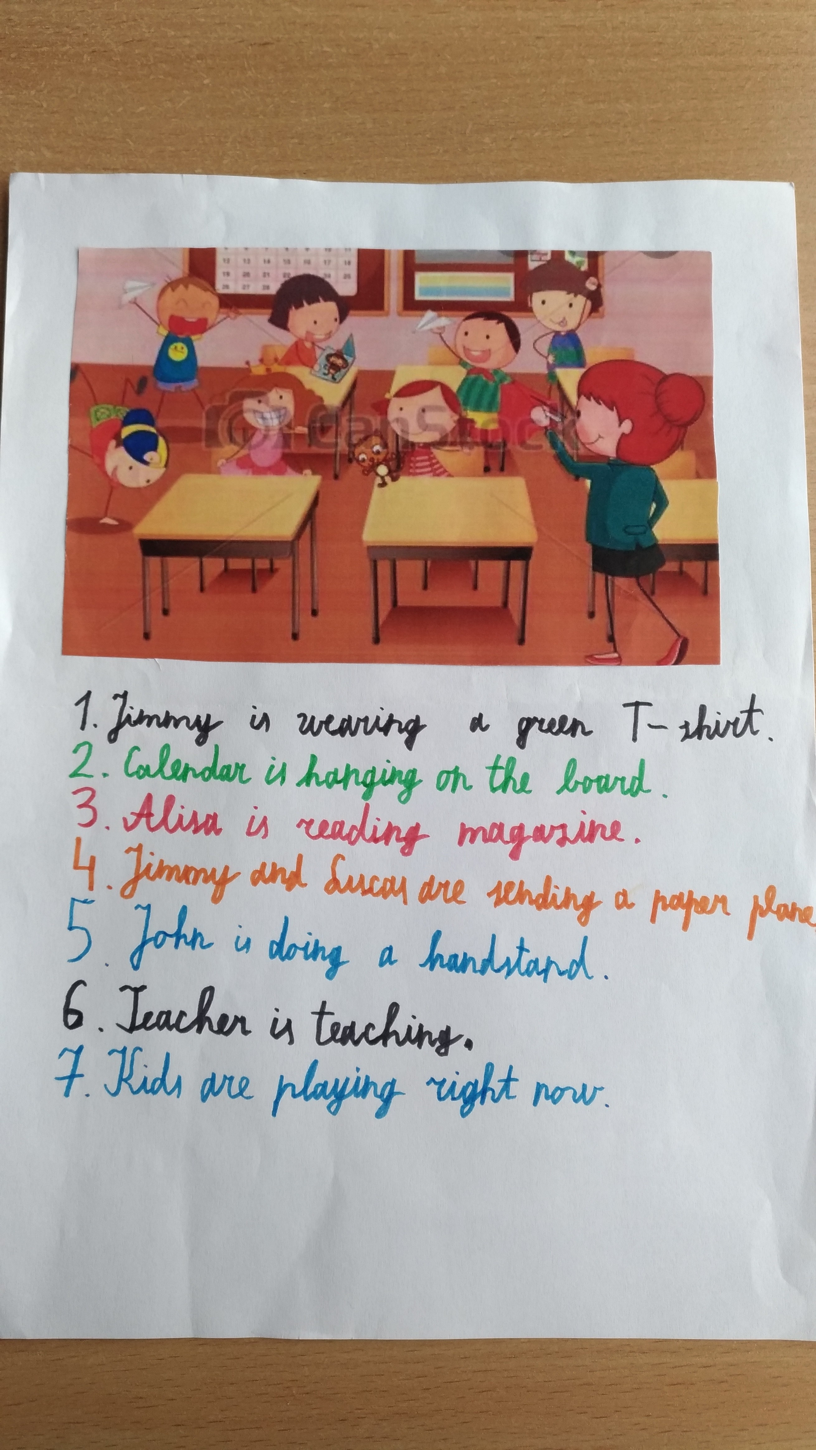 present-continuous-story-Level-A1-Grade-5-4