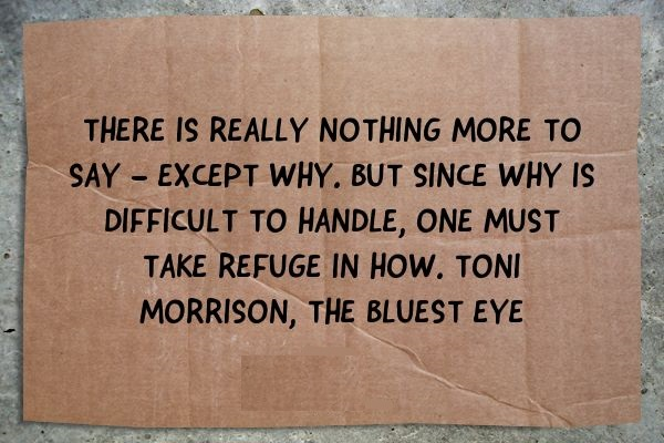 """Literary Analysis of """"The Bluest Eye"""" by Toni Morrison : History and Slavery"""