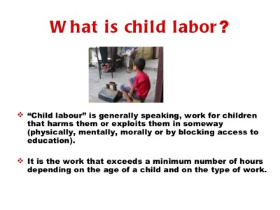 thesis child labor america Yet the process also brought suffering to countless workers who crowded into   contain an introduction that states your answer to the question (your thesis) and   during this time he documented child labor in american industry in an effort to .